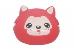 Silicone bags with animal printing, silicone wallet bag, silicone coin bag